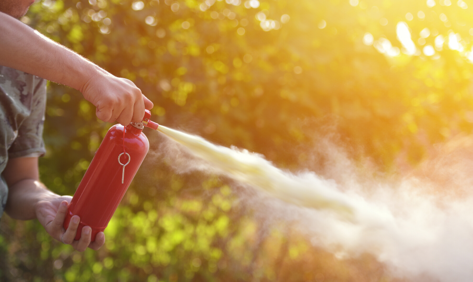 A 5-pound extinguisher is best for use in residential kitchens.